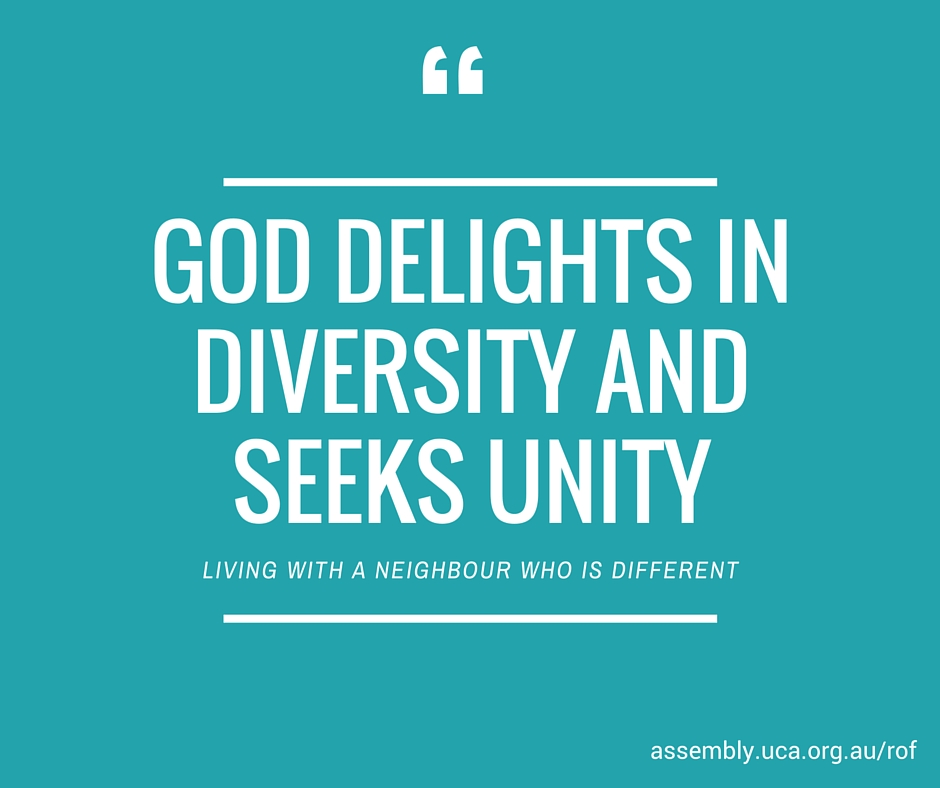 god delights in diversity